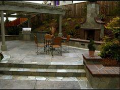Bilevel patio