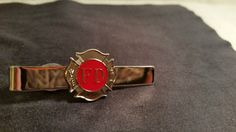 Vintage Hook Fast Tie Clip HD Fire Department Logo ~ Fire Fighters Pins