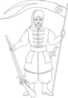 cossack coloring page