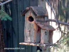 Birdhouses...Old, antique, needs repair, TLC if you plan to stay; use imagination..........better than living outside!! Shelter, shelter
