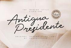 Antigua Presidente - Script Font by Graphicfresh on @creativemarket