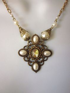 Upscaled Pearl Necklace by JeepersKeepers on Etsy
