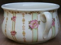 Chamber pot. An explanation of lye and tallow soap.