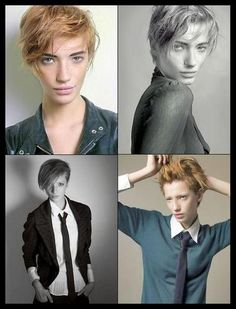 messy. androgynous.