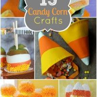 Candy corns are a fall staple. People tend to either a love or hate  these incredibly sugary little candies, but with their bright cheery autumn colors they are too fun to pass up!  Here are 15 adorable candy corn crafts that are deliciously festive!