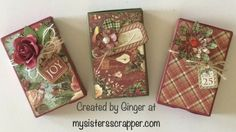 Graphic 45 12 Days of Christmas Matchbox Gift Card Holders