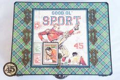 Amazing altered Good ol' Sport box and album from Arlene #graphic45