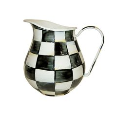Discover+the+MacKenzie-Childs+Courtly+Check+Enamel+Pitcher+at+Amara