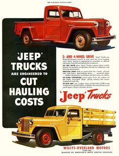 Willys-Overland Motors #Jeep Truck Ad