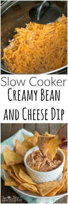 Slow Cooker Creamy Bean and Cheese Dip