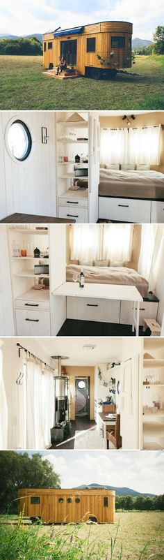 The Wohnwagon: an off-grid and sustainable tiny house with just 269 sq ft of space
