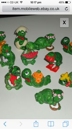 Kinder egg turtles - I was obsessed with trying to collect these!