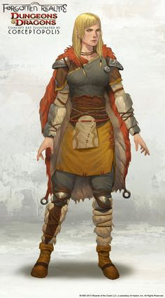 Northland Barbarian (Female) by Conceptopolis armor clothes clothing fashion player character npc | Create your own roleplaying game material w/ RPG Bard: www.rpgbard.com | Writing inspiration for Dungeons and Dragons DND D&D Pathfinder PFRPG Warhammer 40k Star Wars Shadowrun Call of Cthulhu Lord of the Rings LoTR + d20 fantasy science fiction scifi horror design | Not Trusty Sword art: click artwork for source
