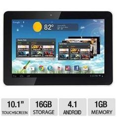 Hannspree 10.1-Inch Quad Core Tablet Pc T7 Series With Ips 1280X800 10 Points Touch Bluetooth And 16Gb Memory Android Jelly Bean (Metallic White Color) Hannspree http://www.amazon.com/dp/B00FE5VDSO/ref=cm_sw_r_pi_dp_uSgfub16W8B30
