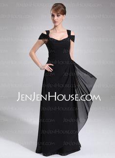 Evening Dresses - $127.49 - A-Line/Princess Off-the-Shoulder Floor-Length Chiffon Evening Dress With Ruffle (017021117) http://jenjenhouse.com/A-Line-Princess-Off-The-Shoulder-Floor-Length-Chiffon-Evening-Dress-With-Ruffle-017021117-g21117