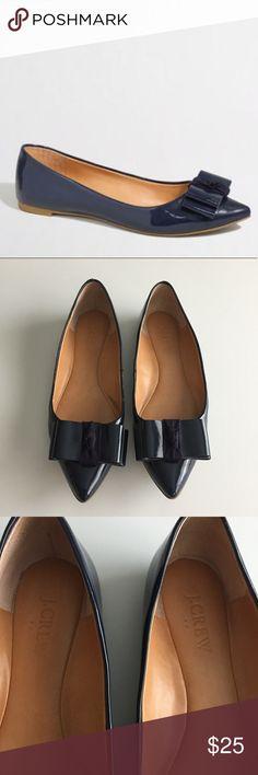 J Crew emery flats J Crew navy emery flats. So cute! 💕 J. Crew Shoes Flats & Loafers