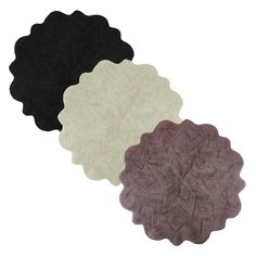Sherry Kline Over Tufted Petals Bath Rug (Set of 2)