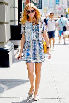 Olivia Palermo lleva el outfit perfecto para un día soleado