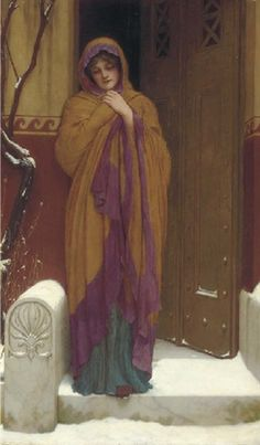 John William Godward - a winter's morning