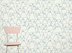mountain wallpaper // blue and white