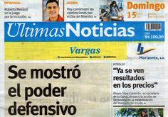 Últimas Noticias Vargas domingo 15  enero  de  2017