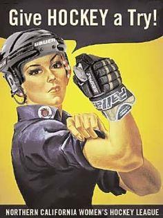 A new hockey twist on a classic image.