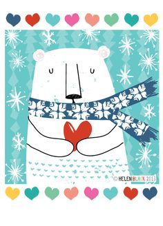 Love Christmas x polar bear illustration Illustration Noel, Christmas Illustration, Illustrations, Polar Bear Illustration, Christmas Graphics, Christmas Art, Winter Art, Xmas Cards, Art Lessons