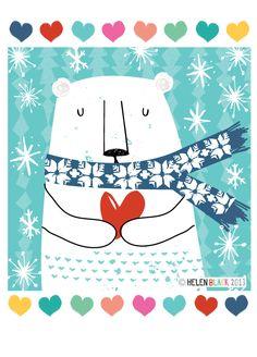 Love Christmas x polar bear illustration Illustration Noel, Winter Illustration, Christmas Illustration, Polar Bear Illustration, Christmas Graphics, Christmas Art, All Things Christmas, Winter Art, Xmas Cards