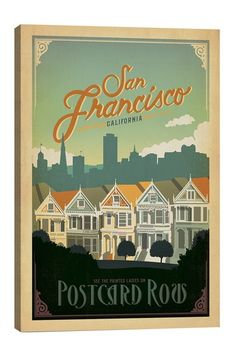 Postcard Road San Francisco California Canvas Print on HauteLook