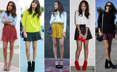 how to wear a pleated mini skirt - Google Search