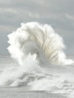White Wave in the Ocean.