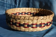 Lazy Susan Basket - pattern by Carolyn Starr - rim was hand braided by me