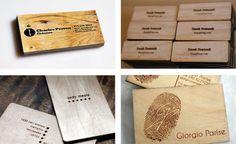 Tarjetas de visita de madera Espacios en madera