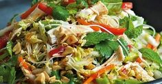 Thermomix Recipe Vietnamese chicken noodle salad by - Recipe of category Main dishes - meat Vietnamese Chicken Salad, Vietnamese Recipes, Asian Recipes, Ethnic Recipes, Szechuan Recipes, Meat Recipes, Cooking Recipes, Healthy Recipes, Dinner Recipes