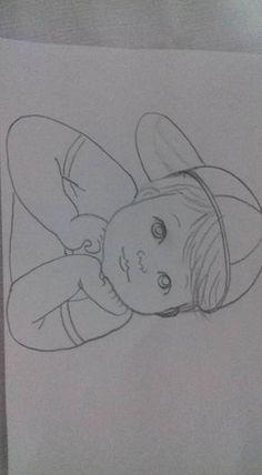 Easy Pencil Drawings, Art Drawings Sketches Simple, Girl Drawing Sketches, Girly Drawings, Art Drawings Beautiful, Art Drawings For Kids, Princess Drawings, Baby Drawing, Pencil Sketches Simple