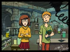 daria fan art | daria and trent as velma and shaggy by christo lhiver fan art cartoons ...