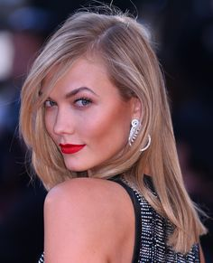 If you'll be paying a visit to your colorist in the near future, consider hair-contouring highlights like Kloss', which will define your facial features in sun-kissed fashion.   - MarieClaire.com