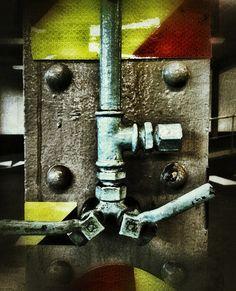 industrial details of a car garage Car Garage, Door Handles, Industrial, Home Decor, Decoration Home, Room Decor, Door Knobs, Industrial Music, Garages
