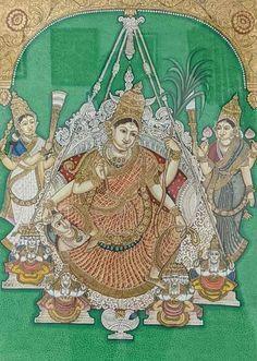 Yashoda Krishna, Krishna Hindu, Mysore Painting, Tanjore Painting, Prayer Room, Painted Chairs, Traditional Paintings, Ganesha, Karnataka