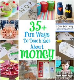 Want your kids to starting learning the VALUE of money from an early age? Check out these 35 FUN Ways to Teach Kids About MONEY! {One Time Through} money tips, managing money Money Activities, Early Learning Activities, Sorting Activities, Math Games, Activities For Kids, Maths, Teaching Kids Money, Learning Money, Money Games For Kids