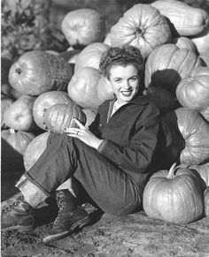 Norma Jeane Thanksgiving 1945 Oversized Vintage Print | From a unique collection of black and white photography at https://www.1stdibs.com/art/photography/black-white-photography/