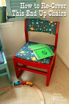 Recovering This End Up Style Kindergarten Chairs