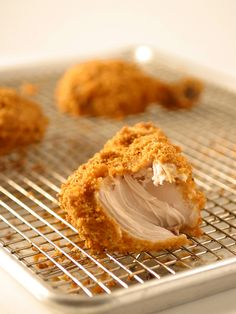 A pinner says: Oven Fried Chicken.  Tastes JUST like fried chicken, but it's healthy and baked, and no flour!