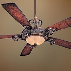 "56"" Minka Aire Napoli Walnut Finish Ceiling Fan"