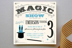 Magic Show Children's Birthday Party Invitations... | Minted