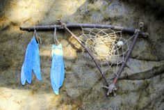 love this dreamcatcher - non, traditional going to make one for my home like this.