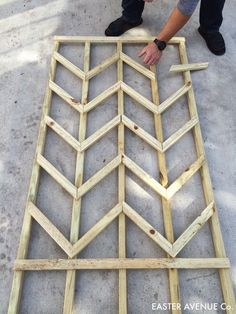 how to build a chevron lattice for garden plants, step 15 - Easter Avenue Co on @Remodelaholic #gardentrellis