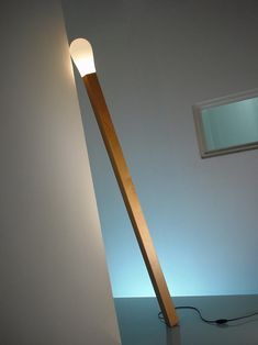 Creative #Lighting Design: A Lamp Like a Match Stick...Made of a wooden stand and a plastic tip.