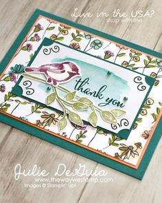 Share What you Love by Stampin' Up! for Global Design Project 134 | #GDP134 | Petal Palette | Handmade Cards | Rubber Stamping | The Way We Stamp | Julie DeGuia