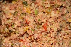 I remember my mom making this when I was a kid. And she used a hand crank food grinder and a big hunk of bologna. Deviled Ham or Bologna Salad Bologna Salad, Bologna Sandwich, Ham Salad Recipes, Pork Recipes, Yummy Recipes, Recipies, Vegan Recipes, Yummy Food, Grinders Recipe